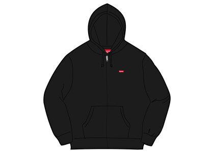Supreme Small Box Zip Up Hooded Sweatshirt Black (SS21)の写真