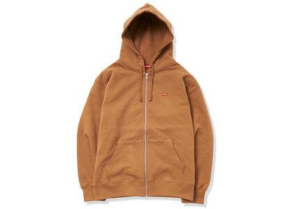 Supreme Small Box Zip Up Hooded Sweatshirt Brown (SS21)の写真