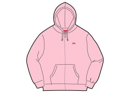 Supreme Small Box Zip Up Hooded Sweatshirt Pink (SS21)の写真