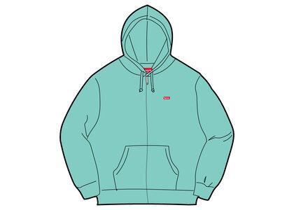Supreme Small Box Zip Up Hooded Sweatshirt Green (SS21)の写真