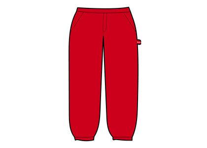 Supreme Utility Pocket Sweatpant red (SS21)の写真