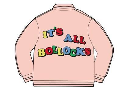 Supreme Jamie Reid It's All Bollocks Varsity Jacket Pink (SS21)の写真
