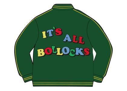 Supreme Jamie Reid It's All Bollocks Varsity Jacket Green (SS21)の写真
