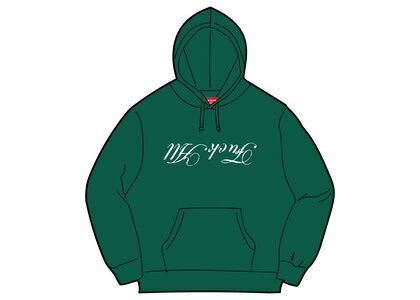 Supreme Jamie Reid Fuck All Hooded Sweatshirt Green (SS21)の写真