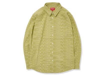 Supreme Warp Jacquard Logos Denim Shirt Green (SS21)の写真