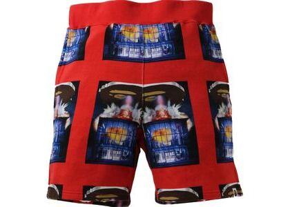 BAPE Invasion Sweat Shorts Red (SS21)の写真