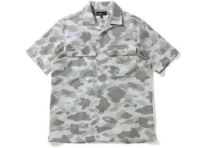 BAPE Mr Camo Open Collar Shirt White (SS21)の写真