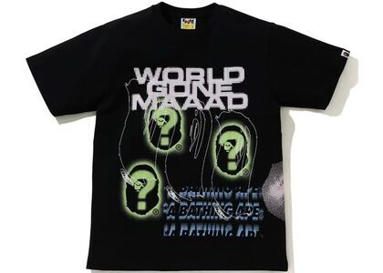 BAPE A Bathing Ape Discharge Print Tee Black (SS21)の写真