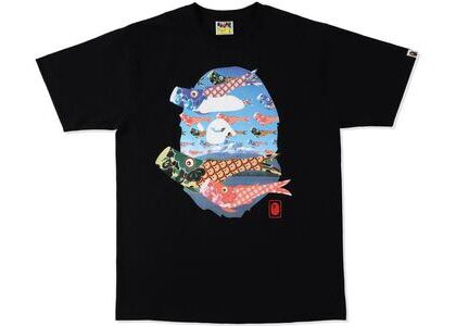 BAPE Koinobori Carp Flags Ape Head Tee Black (SS21)の写真