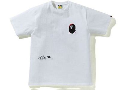 BAPE A Bathing Ape Back Street Tee White (SS21)の写真