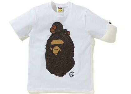 BAPE Glass Beads Milo on Big Ape Tee White (SS21)の写真