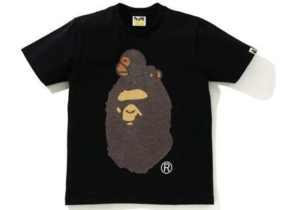BAPE Glass Beads Milo on Big Ape Tee Black (SS21)の写真