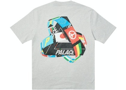 Palace Tri-Flag T-Shirt Grey Marl (SS21)の写真