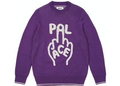 Palace Finger Up Knit Purple (SS21)の写真