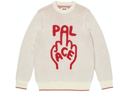 Palace Finger Up Knit White (SS21)の写真