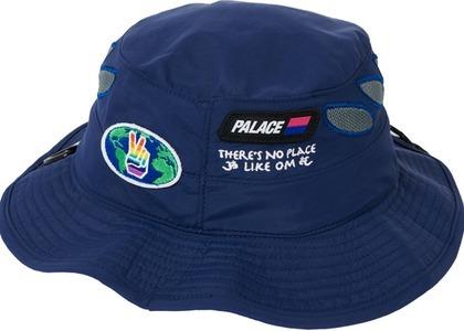 Palace OM Shell Bucket Hat Navy (SS21)の写真