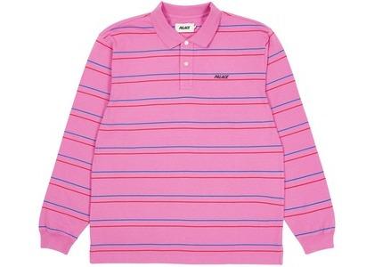 Palace Underline Longsleeve Polo Pink (SS21)の写真