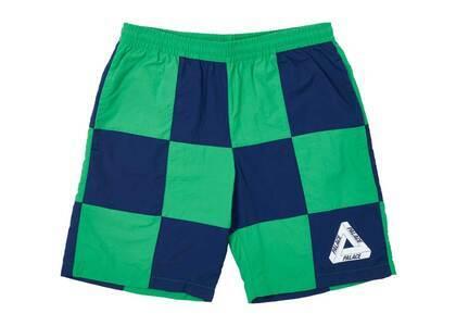 Palace Stitch Up Shell Shorts Green/Blue (SS21)の写真