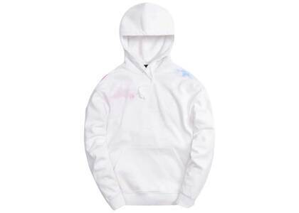 Kith Tie Dye Williams III Hoodie White / Red