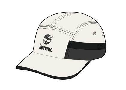 Timberland × Supreme Camp Cap White (SS21)の写真