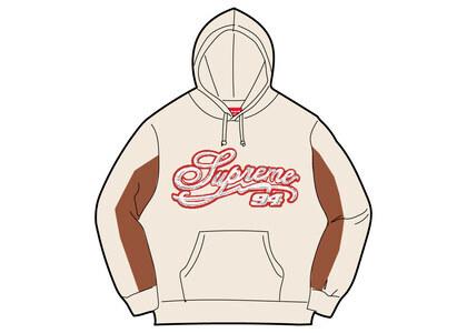 Supreme Paneled Script Hooded Sweatshirt Beige (SS21)の写真