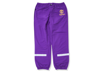 Timberland × Supreme Reflective Taping Track Pant Purple (SS21)の写真