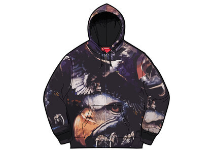 Supreme Eagle Hooded Work Jacket Purple/Red (SS21)