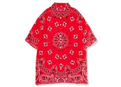 Supreme Bandana Silk S/S Shirt Red (SS21)の写真