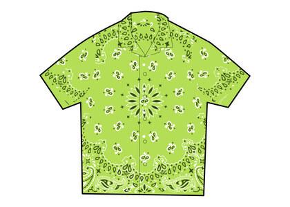 Supreme Bandana Silk S/S Shirt Green (SS21)の写真