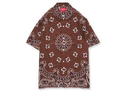 Supreme Bandana Silk S/S Shirt Brown (SS21)の写真