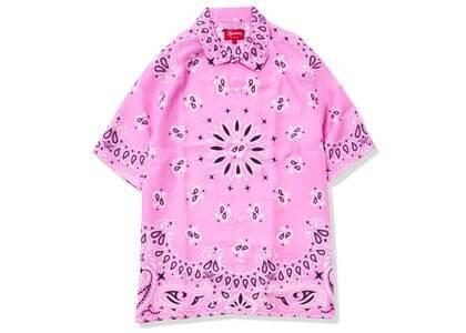 Supreme Bandana Silk S/S Shirt Pink (SS21)の写真