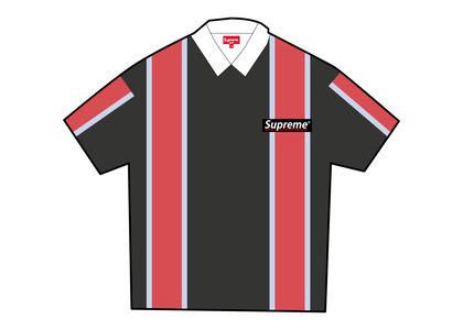 Supreme Stripe S/S Rugby Black (SS21)の写真