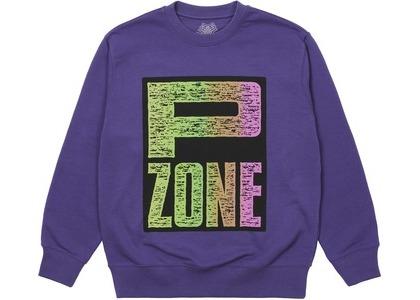 Palace M-Zone Mutant P-Zone Fade Crew Purple (SS21)の写真