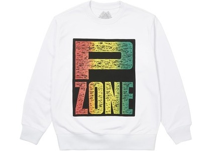 Palace M-Zone Mutant P-Zone Fade Crew White (SS21)の写真