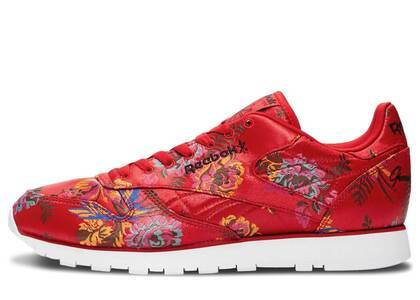 Reebok Classic Leather Opening Ceremony Floral Satin Redの写真