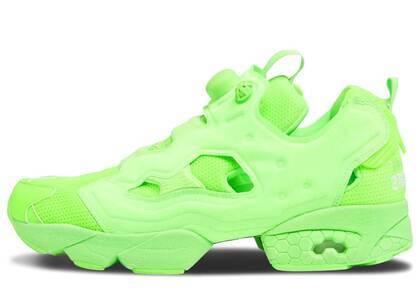 Reebok Instapump Fury Vetements Fluorescent Greenの写真