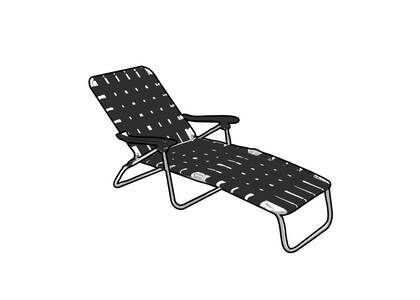 Supreme Woven Chaise Lounge Black (SS21)の写真