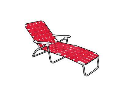 Supreme Woven Chaise Lounge Red (SS21)の写真
