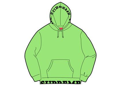 Supreme Cropped Logos Hooded Sweatshirt Green (SS21)の写真