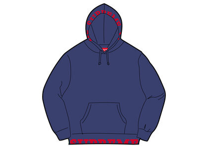 Supreme Cropped Logos Hooded Sweatshirt Navy (SS21)の写真