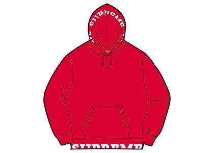 Supreme Cropped Logos Hooded Sweatshirt Red (SS21)の写真