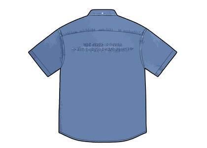 Supreme Embossed Denim S/S Shirt Blue (SS21)の写真