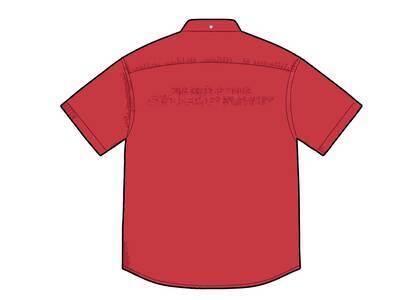 Supreme Embossed Denim S/S Shirt Red (SS21)の写真