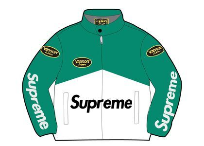 Supreme Vanson Leathers Cordura Jacket Green (SS21)の写真