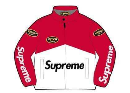 Supreme Vanson Leathers Cordura Jacket Red (SS21)の写真
