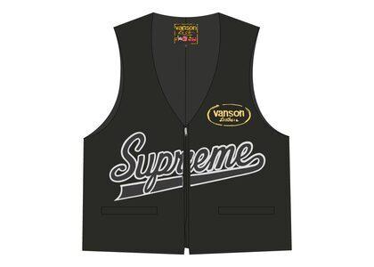 Supreme Vanson Leathers Spider Web Vest Black (SS21)の写真