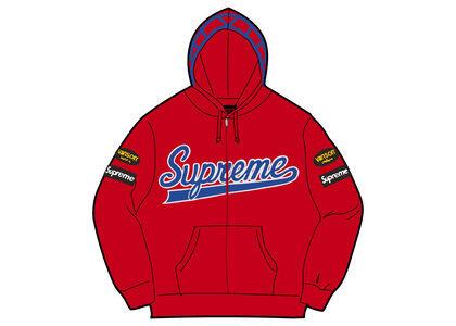 Supreme Vanson Leathers Spider Web Zip Up Hooded Sweatshirt Red (SS21)の写真