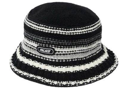 Palace Stripy Knitted Bucket Hat Black (SS21)の写真