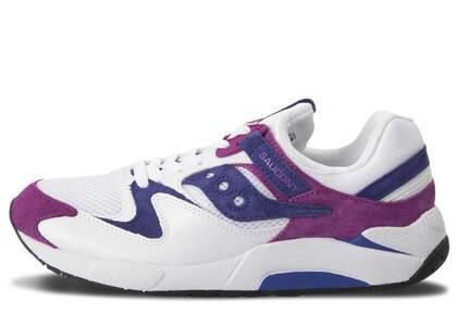 Saucony Grid 9000 White Purpleの写真