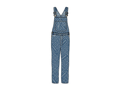 Supreme x Louis Vuitton Jacquard Denim Overalls Blue (SS17)の写真